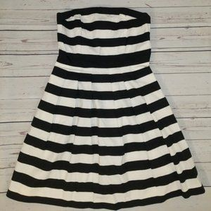 NWT WHBM striped halter dress 10
